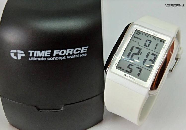 Time force digital chrono relogio tf3185l novo em