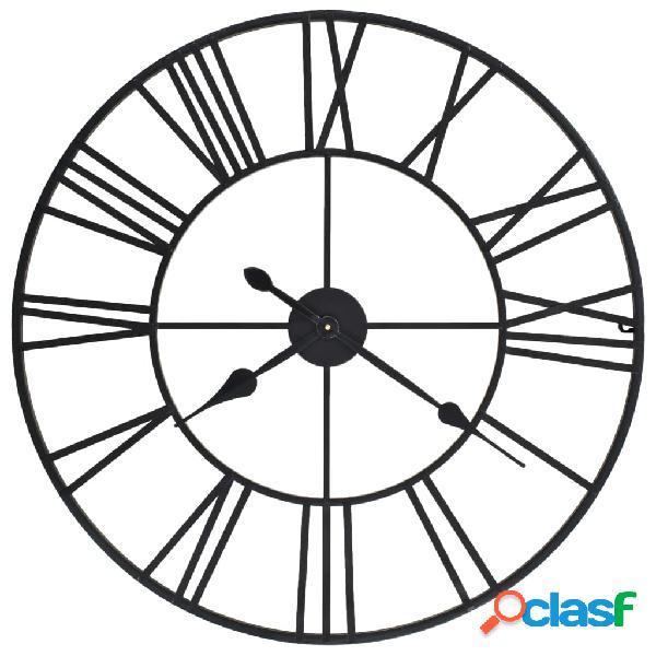 Vidaxl relógio de parede com movimento quartzo metal 80 cm xxl