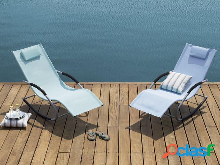 Cadeira de jardim – balanço – azul – carano