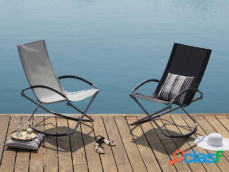 Cadeira de jardim – dobrável – cinza – casto