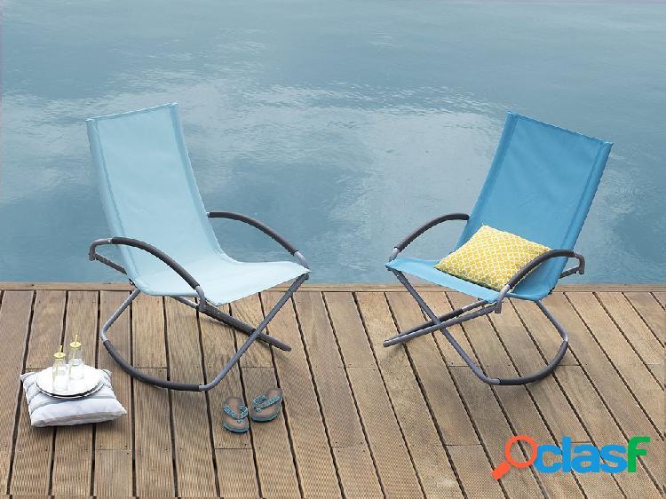 Cadeira de jardim – dobrável – azul – casto