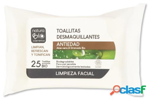 NaturaBIO Cosmetics Toallitas Desmaquillantes Antiedad 25 unidades
