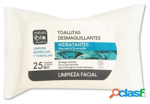 NaturaBIO Cosmetics Toallitas Desmaquillantes Hidratantes Naturabio