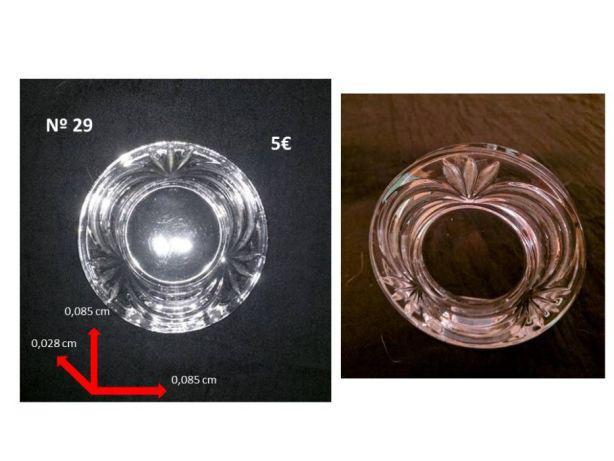 Molduras e castiçais em cristal d'arques e italianolote