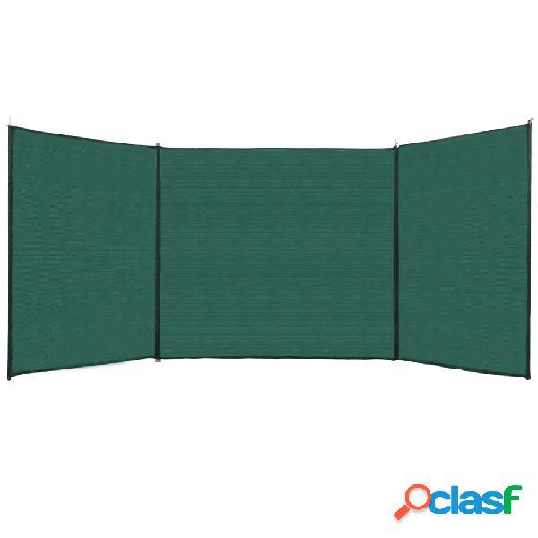 Vidaxl tela de vedação verde 150x450 cm pead