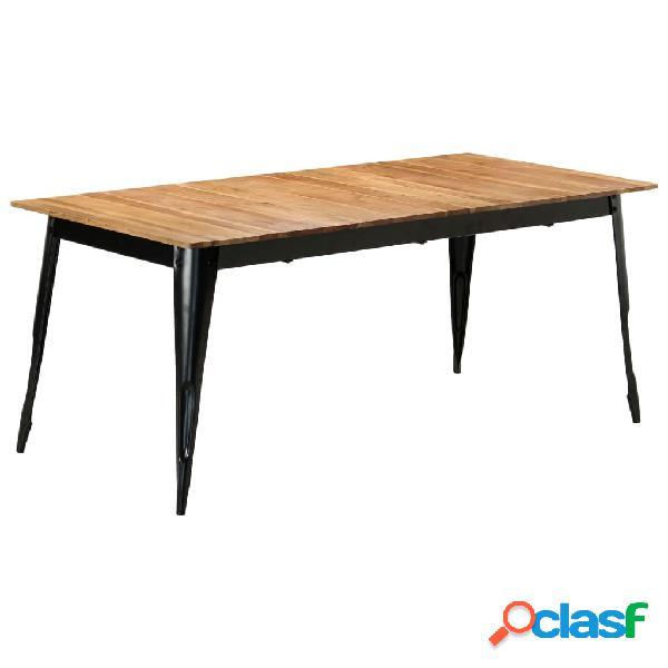 Vidaxl mesa de jantar 180x90x76 cm madeira de acácia maciça