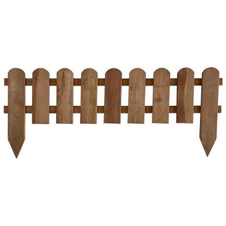 Cerca / bordadura em madeira para jardim