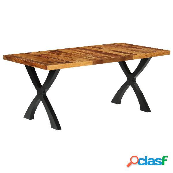 Vidaxl mesa de jantar 180x90x76 cm madeira de sheesham maciça