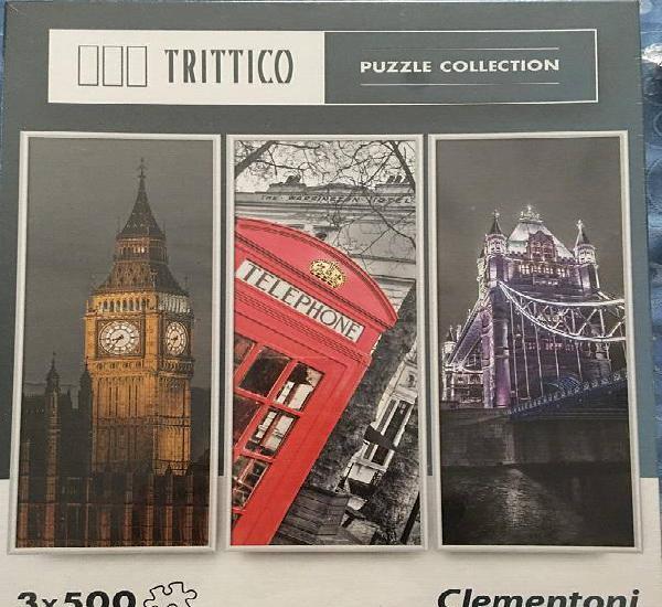 Puzzle clementoni london 3x500 peças