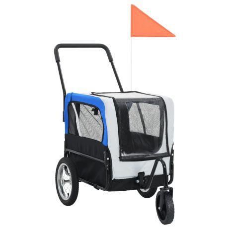 Vidaxl reboque bicicletas/carrinho para animais 2-em-1