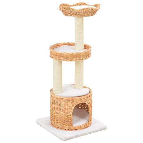 Vidaxl árvore para gatos c/ postes arranhadores madeira de