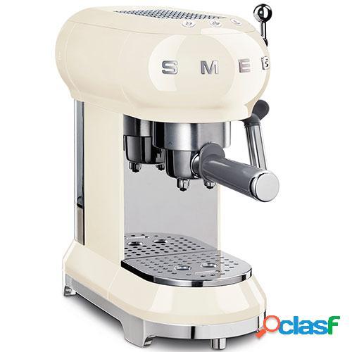 Smeg máquina café ecf01creu cromo, creme