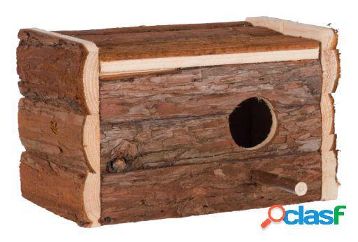 Trixie caixa ninho de madeira natural 21x13x12 cm