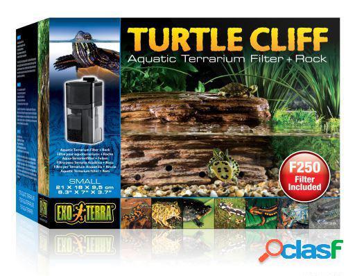 Exo terra filtro e rocha para tartaruga turtle cliff si