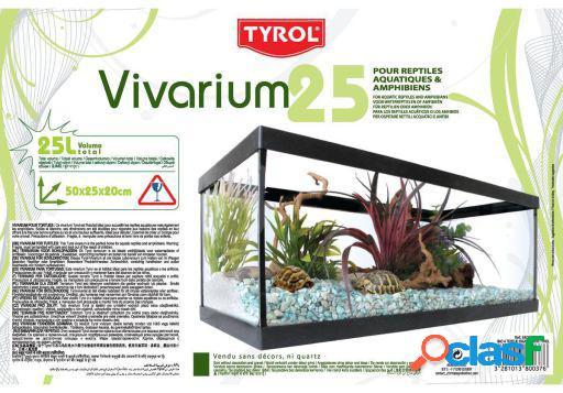 Tyrol tortoise vivarium - 25l black 6 kg