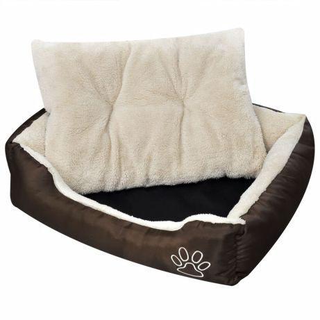 Vidaxl cama para cão, quente com almofada acolchoada,