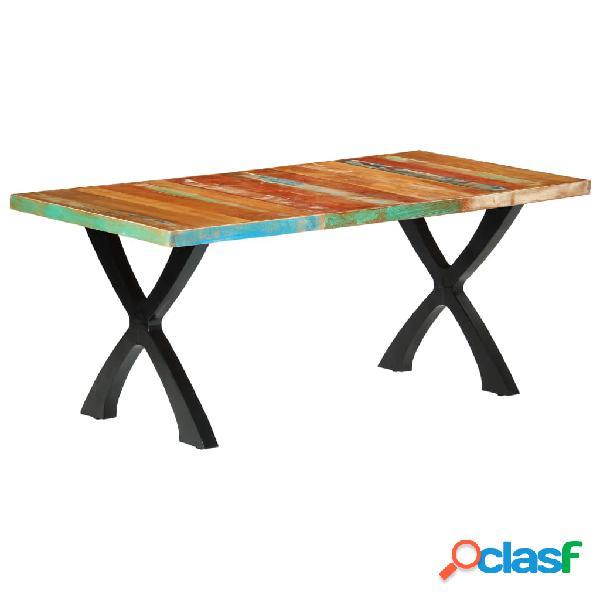 Vidaxl mesa de jantar 180x90x76 cm madeira recuperada maciça