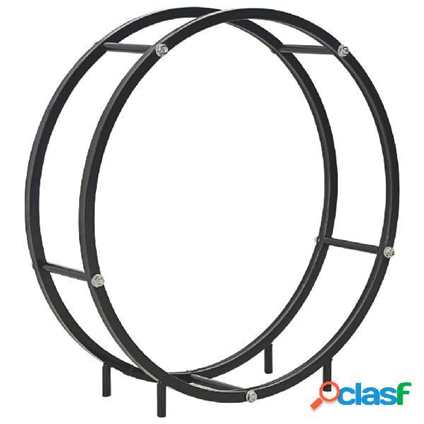 Vidaxl suporte para lenha 70x20x70 cm aço preto