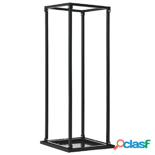 Vidaxl suporte para lenha com base 37x37x113 cm aço preto