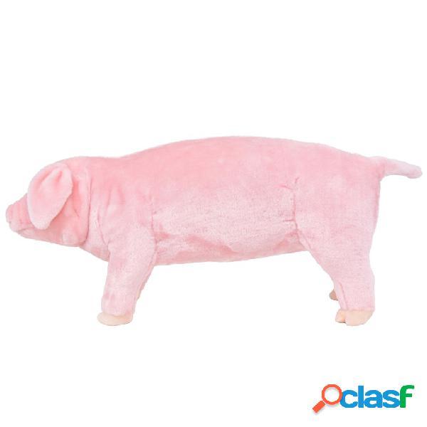 vidaXL Brinquedo de montar porco peluche rosa XXL 1
