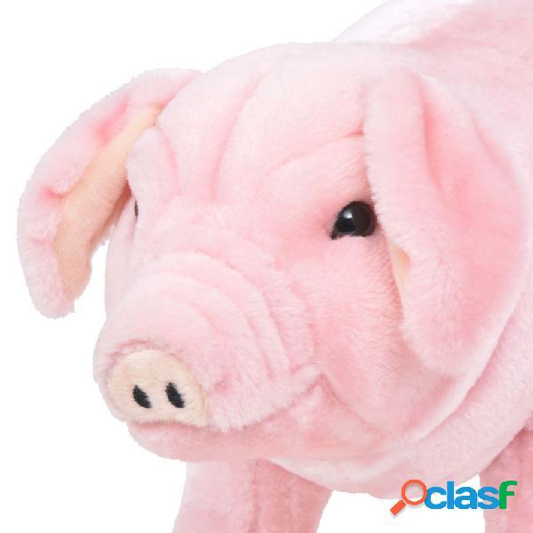 vidaXL Brinquedo de montar porco peluche rosa XXL 2