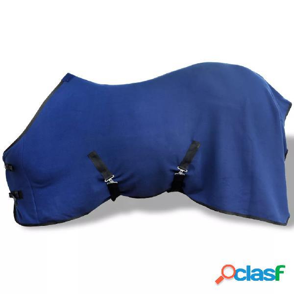 vidaXL Cobertor com sobrecilha lã 115 cm azul
