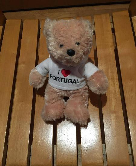 Aurora urso de peluche i love portugal pequeno