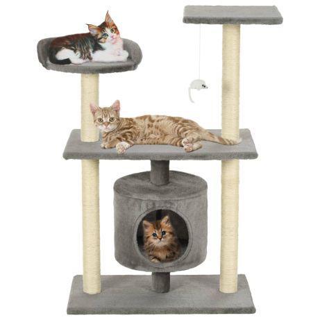 Vidaxl árvore para gatos c/postes arranhadores sisal 95 cm
