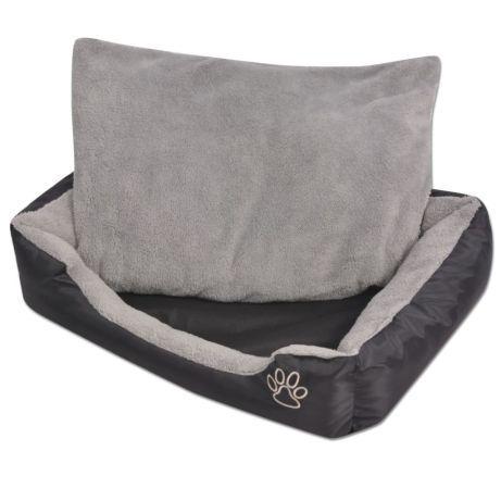 Vidaxl cama para cães com almofada acolchoada tamanho l