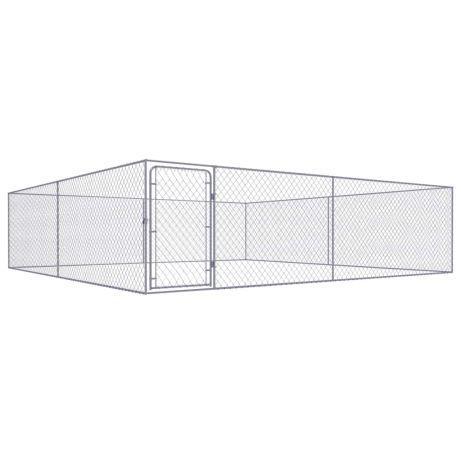 Vidaxl canil de exterior em aço galvanizado 4x4x1 m 170510