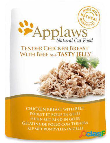 Applaws bolsa gelatina de gato frango / vitela 70 gr