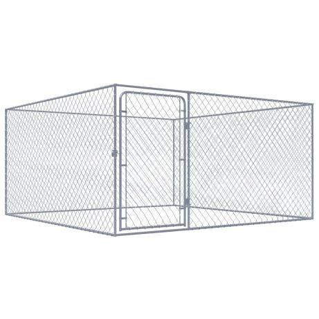 Vidaxl canil de exterior em aço galvanizado 2x2x1 m 170509