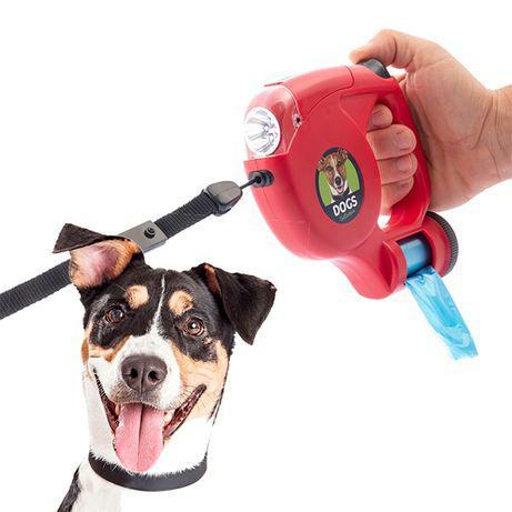 Nataltrela para cães com led e sacosartigo novo