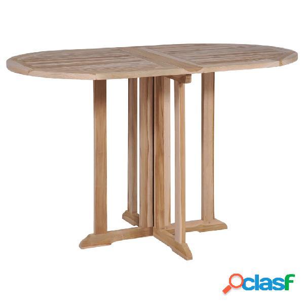 Vidaxl mesa de jardim dobrável 120x70x75 cm madeira teca maciça