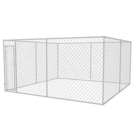 Vidaxl canil de exterior 4x4x2 m 142294