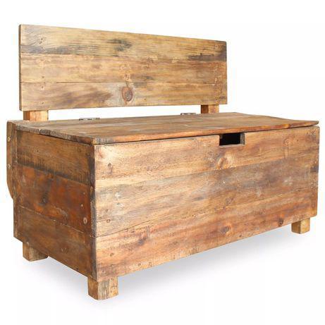 Vidaxl banco em madeira reciclada maciça 86x40x60 cm 244510