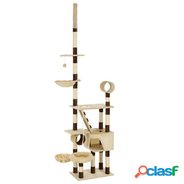 Vidaxl árvore p/ gatos com arranhadores sisal 246-280 cm bege/castanho