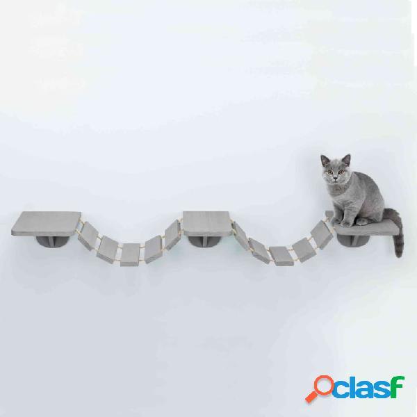 TRIXIE Escada escalada gatos de parede 150x30 cm cinzento-acastanhado