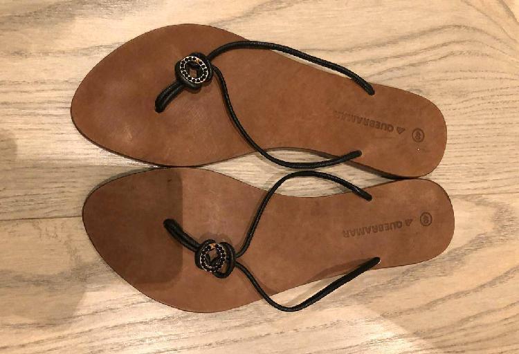 Sandálias rasas quebramar pretas n 40