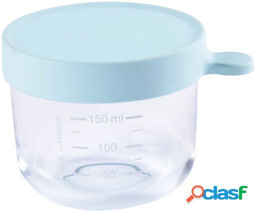 Beaba frasco de conservação azul claro 150 ml 151 ml