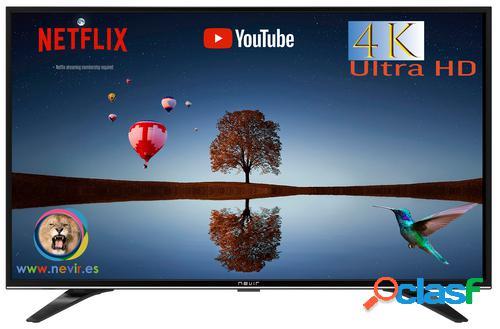 """Nevir nvr-9000-434k2s-sm tv 109,2 cm (43"""") 4k ultra hd smart tv wi-fi preto"""