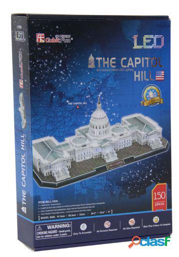 Import 3d puzzle 150 pieces led capitol