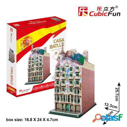 Cubic Fun Puzzle 3D -Casa Batllo Cubic Fun