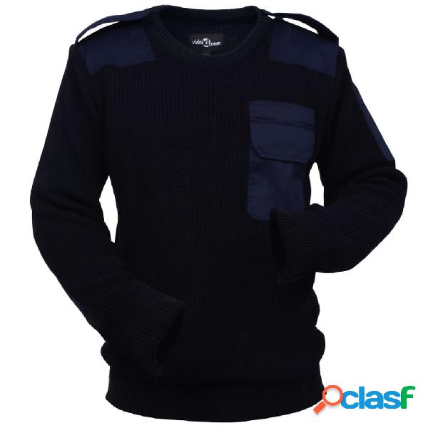 Vidaxl camisola de trabalho para homem azul marinho tamanho xl