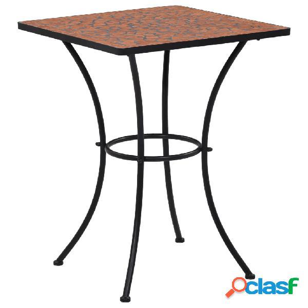 Vidaxl mesa bistrô em mosaico 60 cm cerâmica terracota