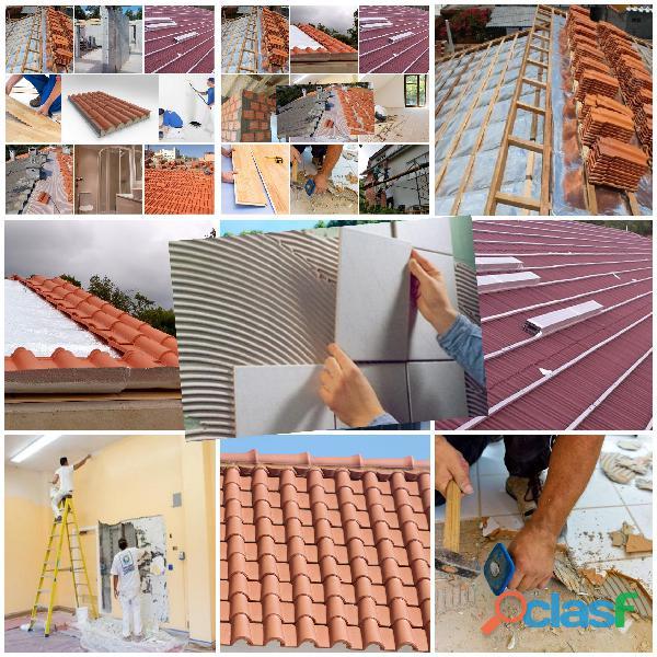 Remodelações Pinturas, Trolha, Pedreiro, Tectos Falsos, Telhados painel Sandwich 1