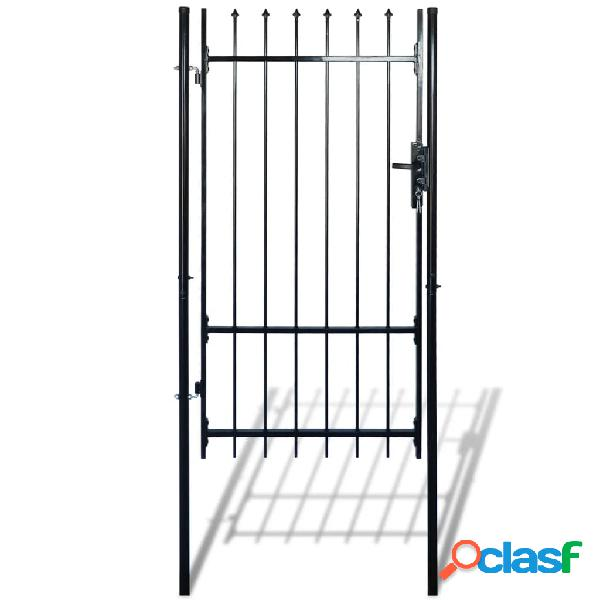 Vidaxl portão de cerca, individual, parte superior forma lança 100 x 198 cm