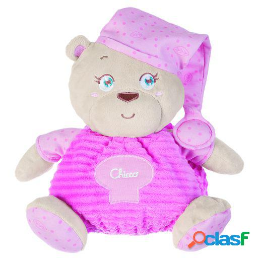 Chicco soft cuddles plush big bear 25cm pink