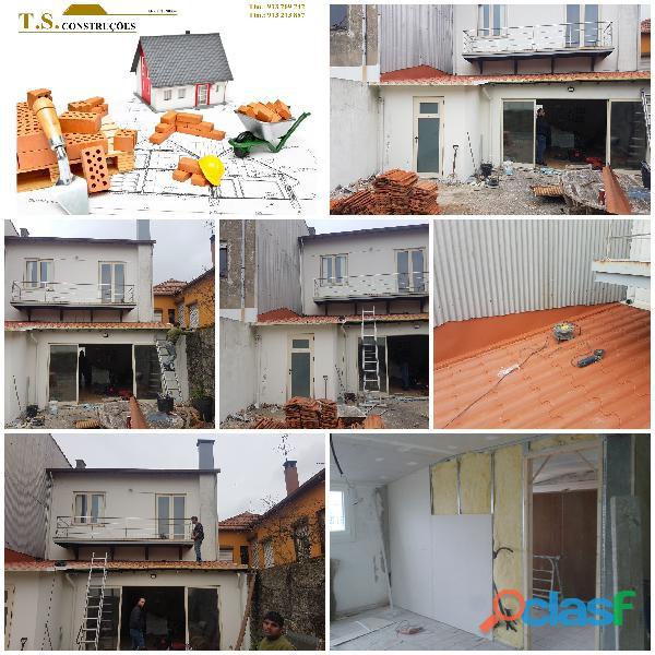 Construção civil remodelações e pinturas etc,  executo serviços de trolha, tectos falsos.