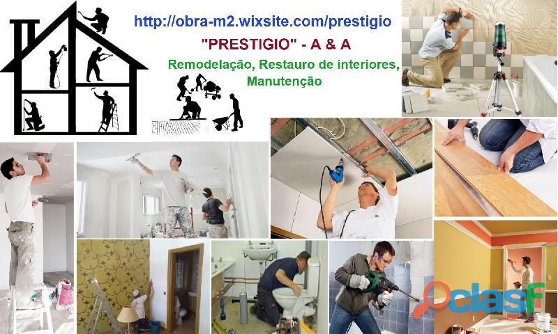 Remodelações gerais, Reabilitação de apartamentos. Manutenção.